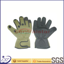 3-Cuffs Finger Neoprene and Nylon Material Fishing Glove