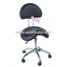 Profissional tatuagem Padded Saddle ajustável Tattoo cadeira, Tattoo Stool, Preto Facial Spa Salon fezes com costas
