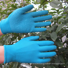 Polyester Latex Coated Polyester Gloves Safety Hand Work Glove