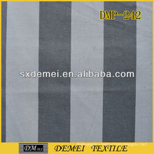 grey and white striped canvas fabric