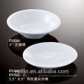 wholesale cheap round deep ceramic buffet plate white porcelain dish