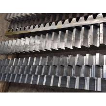 Módulo 10-40 Rack de engrenagem dentada de aço forjado