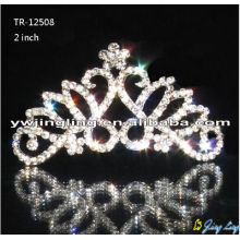 Coronas de plata cristal de Tiara nupcial