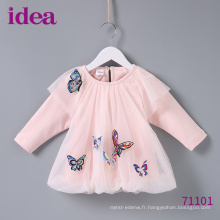 71101 Robes de bébé Princess Dress Within Butterfly