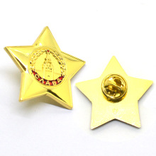 Factory direct sale mini starfish custom star shape metal lapel pin badge
