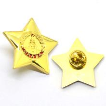 Venda direta da fábrica mini estrela do mar personalizado forma da estrela de metal emblema do pino de lapela