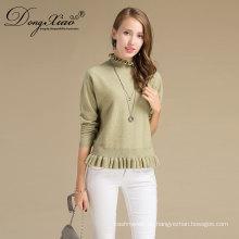 Großhandel Kleidung 100% Australien Merino Wolle Rollkragen Damen Cable Knit Sweater