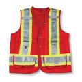 Red 100% Polyester Surveyor Vest