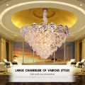 E27 Pendant Spark Led Hanging Light Rectangle Designer Chandeliers Glass Decorative Chandelier