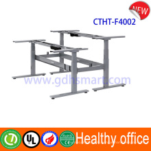 Sit stand desk top workstation & dual motor electric sit stand desk frame & button control electric table