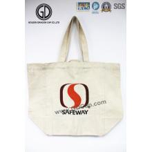 La bolsa de asas de lona de algodón comercial reciclable personalizado promocional