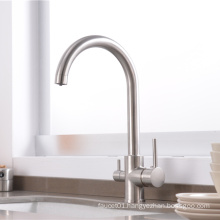 YL-901 Factory price double handle three way filtered drinking mixer tap water purifier kitchen sink faucet