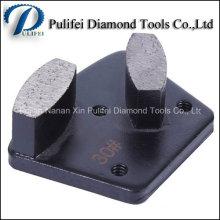Le diamant concret de machine de meulage de plancher usine des outils concrets en métal de plancher de segment d'hexagone