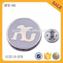 MFB86 insignia promocional del botón del perno de la divisa de la lata del regalo promocional con su propio logotipo