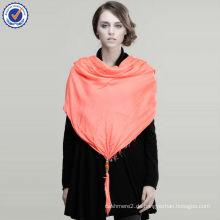 Großhandel Lager Werbe Einfarbig 100% Modal Schal mit Anhänger SWW224