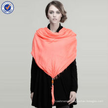 Wholesale Stock Promotional Solid Color 100% Modal Shawl with Pendant SWW224