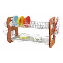 3 níveis rack de pratos armazenamento de cozinha prato utensílios de cozinha prateleiras prateleiras