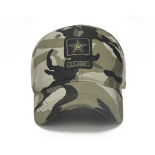 Camo Printing  Embroidery Patch Jacquard Adult  Golf Cap