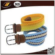 Cinturón de estiramiento elástico trenzado para hombre de estilo casual personalizado
