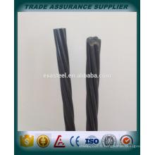 Chine fabricant de brins en acier de qualité supérieure de 15,2 mm / brin de pc de 12,7 mm