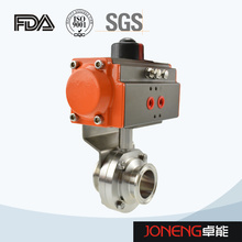 Stainless Steel Sanitary Clamped Pneumatic Butterfly Valve (JN-BV1009)