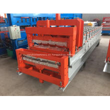 Máquina para fabricar tejas esmaltadas en frío