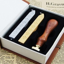 custom designed sealing wax stamp kit