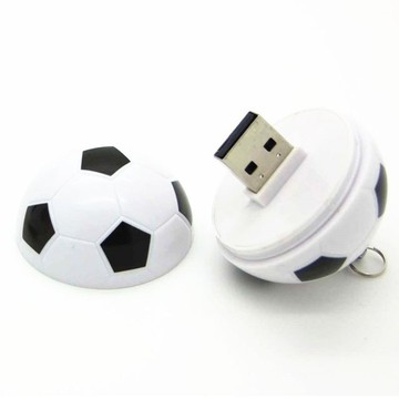 OEM football Pen drive with key chain