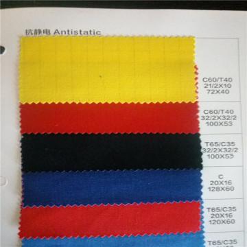 t/c65/35 20x20 100x52 antistatic poplin fabric