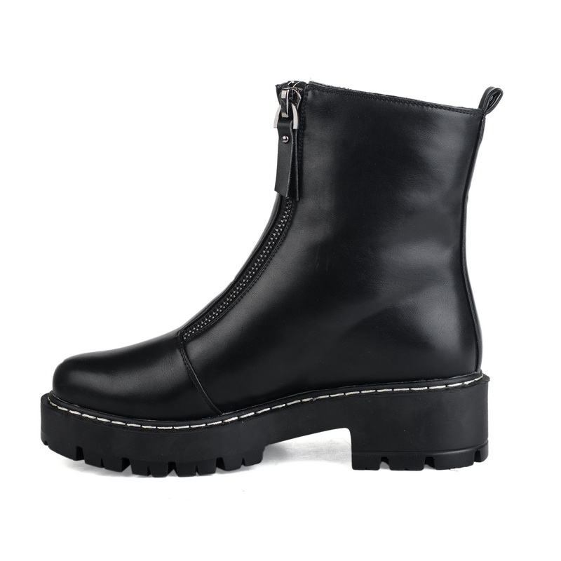 special design double zipper ladies short boots