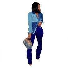 Newest Style Lady Jean Jacket 2 Colors Woman Denim Jacket