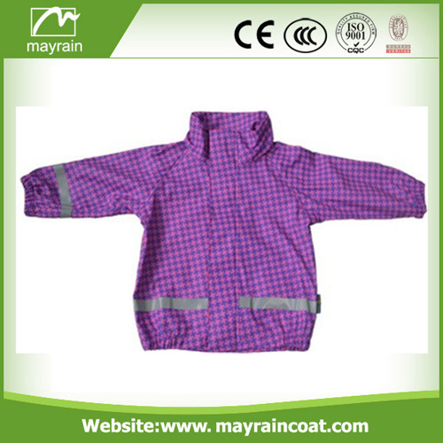 Purple PU Rainwears Raincoat