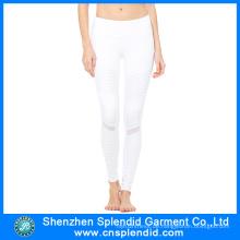 China-Großhandelsfrauen-stilvolle reizvolle Gamaschen-weiße Yogahosen