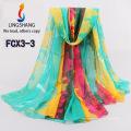 FCX3 bufanda al por mayor de la gasa los nuevos mantones y bufandas 180 * 150cm de la manera de la bufanda del hijab del estilo