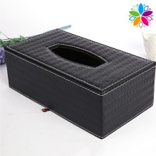 Rectangle Weave Design Leatherette Tissue Box (ZJH062)