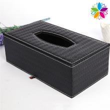 Boîte en tissu en similicuir à motif rectangle (ZJH062)