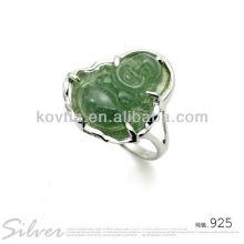 Wholesale China agate diamond unique design 925 silver rings