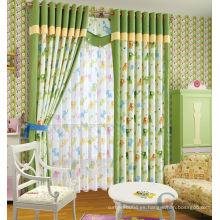 Niños cortina impresa cortina verde