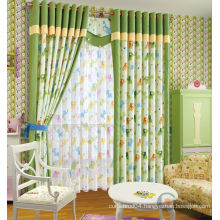 kids printed curtain green curtain