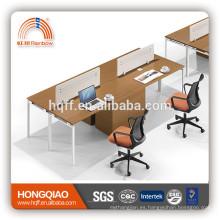 (MFC) estación de trabajo de la oficina moderna del diseño PT-10 para el escritorio de puesto de trabajo de 2 personas