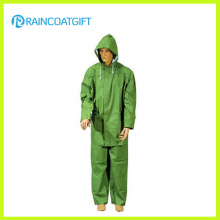 Homens de PVC de PVC de poliéster 2PCS Workwear Rpp-035
