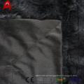 listra dupla camada animal pv velo falso cobertor de pele