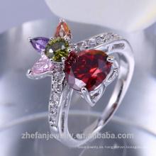 2018 joyas de la boda de dubai 18 quilates anillo chapado en oro