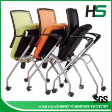 Orange Mesh Sitzungsstuhl H-DM10