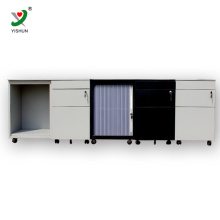 Filing Cabinet three drawers slide mobile cabinet