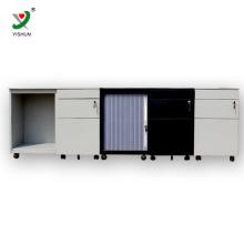 Gabinete de arquivamento de três gavetas do armário móvel de slides