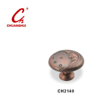 Copper Knob Handles with Decorative Pattern (CH2140)