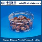 Last new model 150ml round PS plastic box,150ml round plastic can