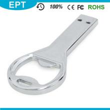 Forma de llave de logotipo personalizado abrebotellas USB para muestra gratis