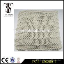 100% Baumwolle rot und beige Fisch Netz Patten Abdeckungen für dekorative Kissenbezug